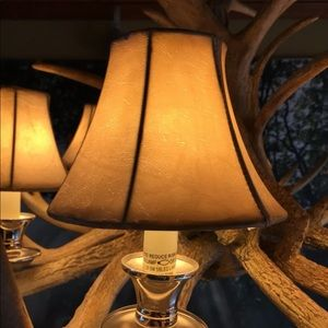 Other - Chandelier Lamp Covers 6 Faux Leather Look
